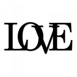 Napis na ścianę ozdobny DEKOSIGN LOVE CZARNY
