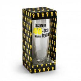 Szklanka do piwa szklana JESTEM PO 40-TCE MÓW MI BYKU! 500 ml
