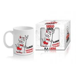 Kubek ceramiczny boss z napisem QBEK DIABLICA 300 ml