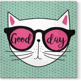 Serwetki papierowe dekoracyjne PAW COOL CAT MIĘTOWE 20 szt.