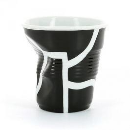 Kubek do espresso porcelanowy REVOL FROISSES ALL OVER CZARNY 80 ml
