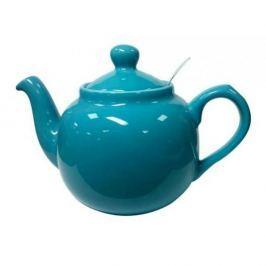 Dzbanek do herbaty ceramiczny z zaparzaczem LONDON POTTERY FARMHOUSE NIEBIESKI 0,6 l