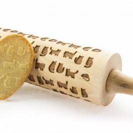Wałek dekoracyjny do ciasta drewniany ANAPOL KOTY