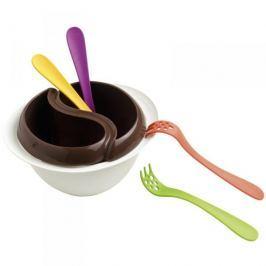 Zestaw do fondue z kuchenki mikrofalowej plastikowy MASTRAD BIAŁY