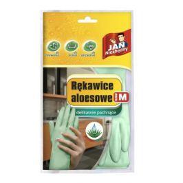 Rękawiczki lateksowe aloesowe JAN NIEZBĘDNY ZIELONE M