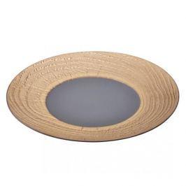 Talerz do serwowania przekąsek porcelanowy REVOL ARBORESCENCE SZARY 31 cm