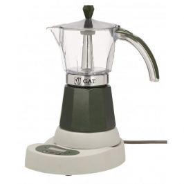 Kawiarka elektryczna aluminiowa ciśnieniowa GAT VITAGE CIEMNOZIELONA - kafetiera na 6 filiżanek espresso