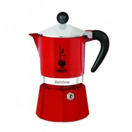 Kawiarka aluminiowa ciśnieniowa BIALETTI RAINBOW CZERWONA - kafetiera na 6 filiżanek espresso