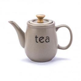 Dzbanek do herbaty i kawy ceramiczny FLORINA SABBIA SZARY 1,1 l