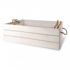 Skrzynki drewniane ozdobne MONDEX LOBELIA BIAŁE 3 szt.