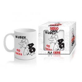 Kubek ceramiczny boss z napisem QBEK 40 LATKA 300 ml