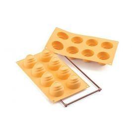Forma do 8 czekoladek silikonowa SILIKOMART FLU POMARAŃCZOWA
