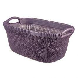 Brudownik / Kosz na pranie i bieliznę plastikowy CURVER KNIT FIOLETOWY 40 l