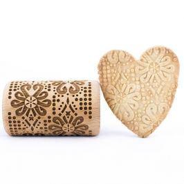 Wałek dekoracyjny do ciasta drewniany STODOLA MINI FOLK PARZENICA