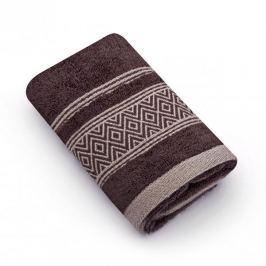 Ręcznik do rąk bawełniany MISS LUCY SANNY BRĄZOWY 30 x 50 cm