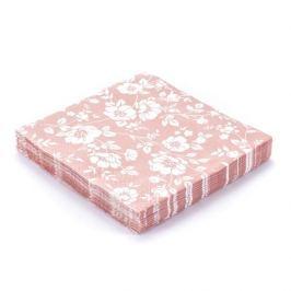 Serwetki papierowe dekoracyjne ORNAMENT RÓŻOWE 20 szt.