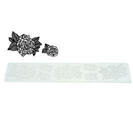 Mata do dekoracji ciast silikonowa SILIKOMART TRICOT DECOR ROSES 40 x 8 cm