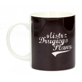 Kubek porcelanowy boss z napisem AMBITION HAPPY MISTRZ DRUGIEGO PLANU 300 ml