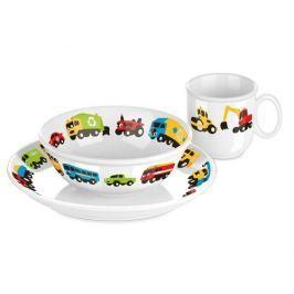 Naczynia dla dzieci porcelanowe TESCOMA BAMBINI AUTKA BIAŁE 3 szt.