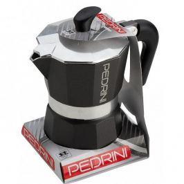 Kawiarka aluminiowa ciśnieniowa PEDRINI AROMA COLOR CIEMNOSZARA - kafetiera na 2 filiżanki espresso