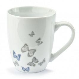 Kubek porcelanowy FLORINA BUTTERFLY BIAŁY 320 ml