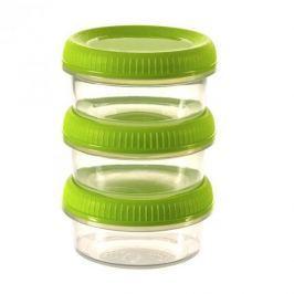 Pojemniki na żywność plastikowe CURVER SMART TO GO ZIELONE 0,08 l 3 szt.