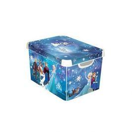 Pojemnik na zabawki plastikowy CURVER KRAINA LODU NIEBIESKI 39,5 x 29,5 cm