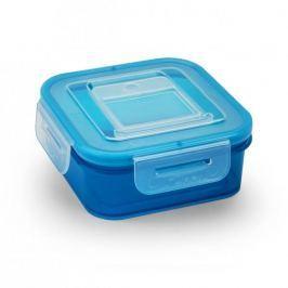 Pojemnik na żywność plastikowy BRANQ QLOCK EFFECTIVE NIEBIESKI 0,4 l