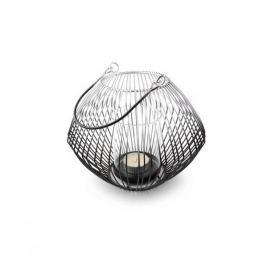 Lampion ozdobny metalowy MONDEX CEDRIC OMBRE CZARNY 15 cm