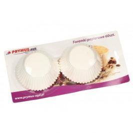 Papilotki / Foremki do muffinek papierowe KLASYCZNE BIAŁE 60 szt.