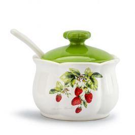 Cukiernica ceramiczna z łyżeczką FLORINA GARDEN BIAŁA 250 ml