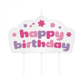 Świeczka urodzinowa na tort dla dzieci TESCOMA KIDS RÓŻOWA