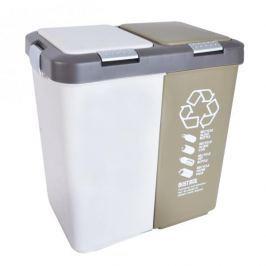 Plastikowy kosz do segregacji śmieci DUO BIG