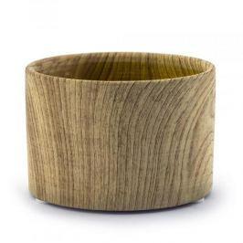 Osłonka na doniczkę porcelanowa WOOD DEKU BEŻOWA 9,7 cm