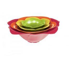 Miski / Salaterki plastikowe ZAK ROSE HOT POP WIELOKOLOROWE 4 szt.