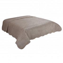 Narzuta na łóżko poliestrowa MISS LUCY PROVENCE BEŻOWY 170 x 210 cm