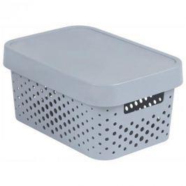 Koszyk z pokrywką ażurowy plastikowy CURVER INFINITY SZARY 4,5 l