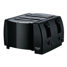 Toster / Opiekacz do kanapek elektryczny plastikowy ADLER DOUBLE CZARNY