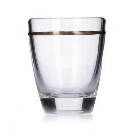 Kieliszki do wódki szklane MM GLASS BARYŁKA ZŁOTY PASEK 25 ml 6 szt.
