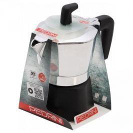 Kawiarka aluminiowa ciśnieniowa PEDRINI SEI MOKA - kafetiera na 1 filiżankę espresso
