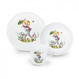 Naczynia dla dzieci porcelanowe KAHLA SZCZĘŚLIWY JAŚ BIAŁE 3 szt.