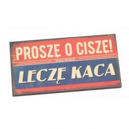 Tabliczka z napisem dekoracyjna drewniana PAN DRAGON VIP LECZĘ KACA
