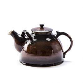 Dzbanek do herbaty i kawy kamionkowy KRAJAC BRĄZOWY 2,4 l