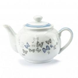 Dzbanek do herbaty i kawy porcelanowy FLORINA BUTTERFLY BIAŁY 0,9 l