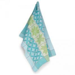 Ręcznik kuchenny bawełniany KELA CARLA ORNAMENT NIEBIESKI 70 x 50 cm
