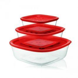 Pojemniki na żywność plastikowe FORME CASA CIBO CZERWONE 3 szt.