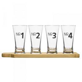 Szklanki do piwa szklane z podstawką SAGAFORM BAR 150 ml 4 szt.