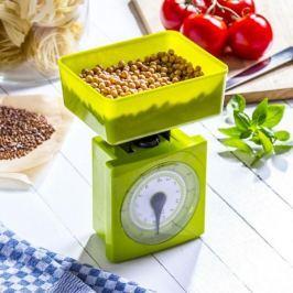 Waga kuchenna mechaniczna plastikowa z miską MISA ZIELONA