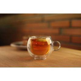 Filiżanka do kawy i herbaty szklana termiczna z podwójną ścianką VIALLI DESIGN AMO 220 ml