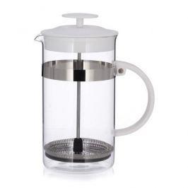 French press / Zaparzacz do kawy tłokowy szklany MODO 1 l BIAŁY